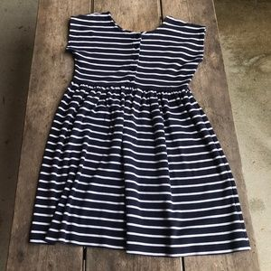 Hanna Andersson Navy White Striped Short Sleeved